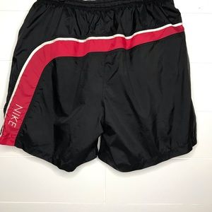Nike Vintage Swim Trunks Black Tag With Pockets